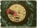 hand-colored print of Georges Méliès's 1902 film Le voyage dans la lune