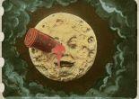 hand-colored print of Georges Méliès's 1902 film Le voyage dans la lune